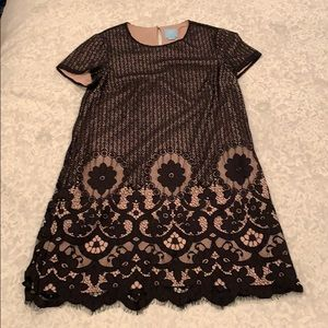 CeCe Black Lace Shift Dress